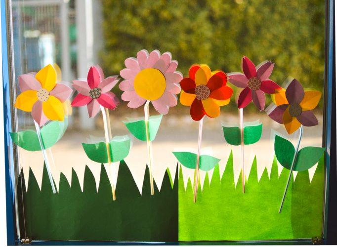 Blumenwiese basteln Edeka Kempken