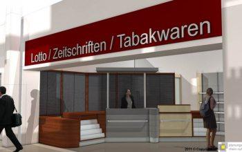14 Mit einem eigenen Lotto, Zeitschriften und Tabakwaren Laden (Foto: © Plaungsgruppe Rhein-Ruhr)