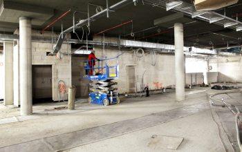 Entlang der gesamten Wand finden sich künftig die Frischetheken.