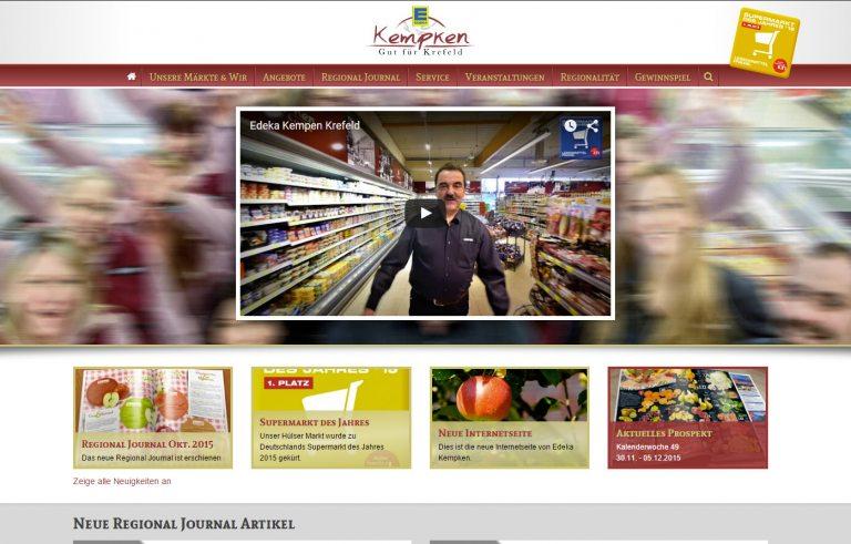 Edeka Kempken neue Internetseite