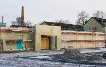 Die Baustelle im Fütingsweg in Krefeld befindet sich momentan noch im Rohbau. (Foto: © EDEKA Kempken)