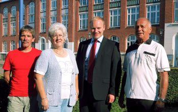 Der Vorstand: (v.l.) Martin Gabriel, Brigitte Reich, Daniel Wingender, Peter Mosch (Foto: Bürgerverein Krefeld Süd)