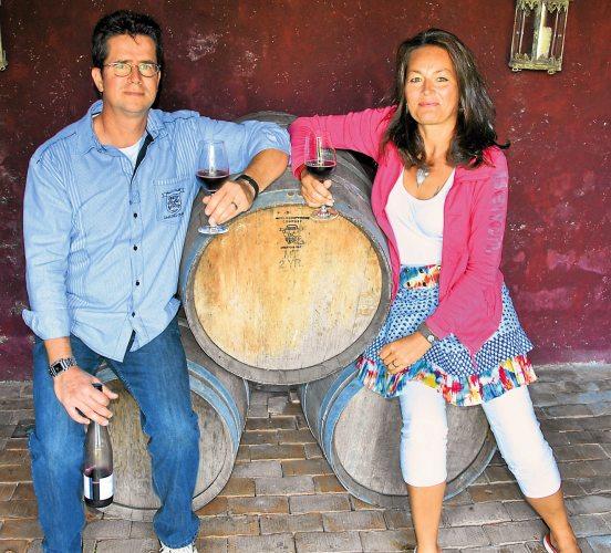 Eckhard Kloster und seine Frau Heike sind leidenschaftliche Weingenießer (Foto: © Kloster-Kraul)