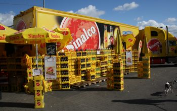 Der Sinalco-Truck (Foto: © EDEKA Kempken)
