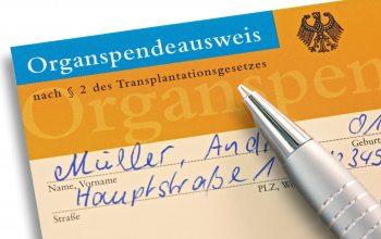 Organspendeausweis (Foto: ©fovito/Fotolia)