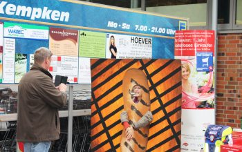 Fotowand für Besucher (Foto: © EDEKA Kempken)