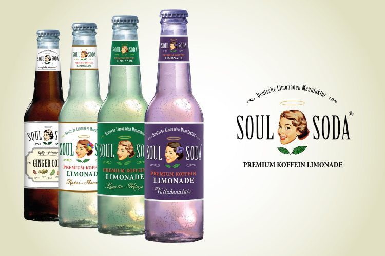 Die neue Premiumlimonade mit Koffein Kick. (© Soul-Soda)