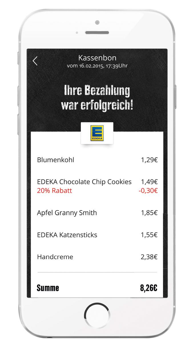 Die EDEKA App. (Foto: © EDEKA ZENTRALE AG & Co. KG)
