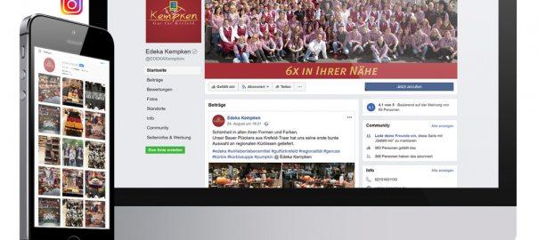 Edeka Kempken ist nun auch bei Facebook und Instagram.