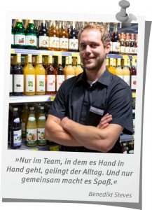 Benedikt Steves Marktleiter Trinkgut Kempken