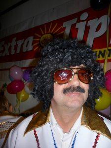 Heiner Kempken verkleidet als Elvis