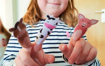 Bastel dir deinen eigenen Fingerpuppen-Bauernhof