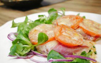 Beas Rezepte: Schwarzwälder Schnitzel mit Feldsalat