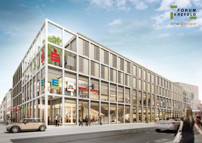 Forum Krefeld- Bau in einem Jahr fertig