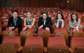Die aktuellen Mitglieder des Opernstudio Niederrhein (vlnr): Woongyi Lee, Valerie Eickhoff, Alexander Kalina, Panagiota Sofroniadou, Iva Jovanović