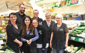 dasd Team vom Supermarkt Kempken, auf der Grenzstraße.